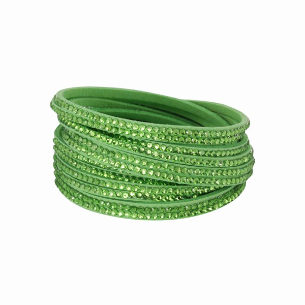 Náramek Tribal Trendy TBS03 green-peridot 410mm