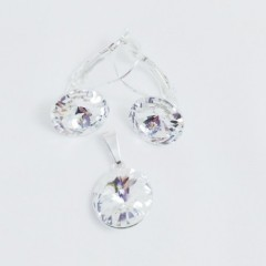 Souprava Swarovski elements rivoli, crystal RS11006