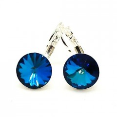 Náušnice Swarovski elements rivoli, bermuda blue RS12002