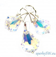 Souprava Swarovski elements baroque crystal AB BA67542